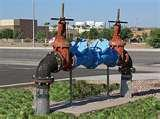 Metal apparatus used by the town to prevent backflow